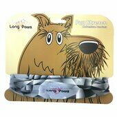 Long Paws Dog Bandana Charcoal Geo 25 x 25cm