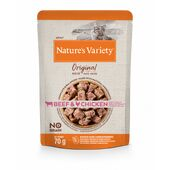 12 x 70g Nature's Variety Original Pouches For Adult Cats Multipack