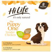 24 x Hilife It's Only Natural Dog Pouch The Puppy One Multipack 150g