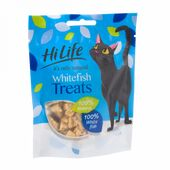 12 x Hilife It's Only Natural Cat Pouch Whitefish Treats 10g