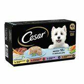 16 x Cesar Senior 10+ In Delicate Jelly Dog Food 150g