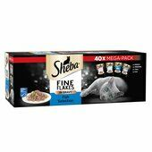 40 x Sheba Fine Flakes Cat Pouches Fish Selection In Gravy Mega-pack 85g