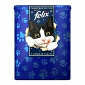 Felix Treats Christmas Cat Treat Tin