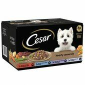 24 x Cesar Hearty Casserole Mixed Selection Dog Food 150g