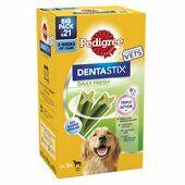 4 x Pedigree Dentastix Fresh Daily Dental Chews Large Dog Sticks 21