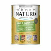 12 x Naturo Adult Chicken In Gravy Can 390g