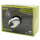Komodo Black Dome Lamp Fitting With Clamp 14cm