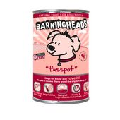 24 x 400g Barking Heads Fusspot Salmon Wet Adult Dog Food