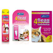 Johnson's 4Fleas Cat & Kitten (1 - 11kg) Flea Treatment Bundle