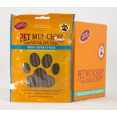 8 x Pet Munchies Beef Liver Sticks Natural Dog Treats 90g