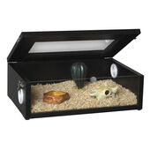 Monkfield Terrainium Small Reptile Vivarium - 18 Inch Black