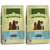 2 x 7.5kg James Wellbeloved Multibuy Duck & Rice Adult Dog Food