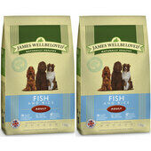 2 x 7.5kg James Wellbeloved Ocean White Fish & Rice Adult Dog Food