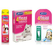 Johnson's 4Fleas Small Dog & Puppy (0.6 - 6kg) Flea Treatment Bundle