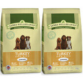2 x 7.5kg James Wellbeloved Multibuy Turkey & Rice Junior Dog Food