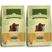 2 x 7.5kg James Wellbeloved Multibuy Turkey & Rice Puppy Food