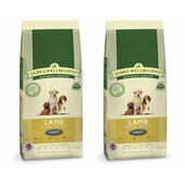 2 x 12.5kg James Wellbeloved Multibuy Lamb & Rice Light Dog Food