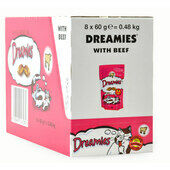 8 x 60g Dreamies Cat Treats With Beef - Bulk Pack