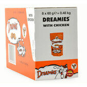 8 x 60g Dreamies Cat Treats With Chicken - Bulk Packs