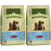 2 x 15kg James Wellbeloved Fish & Rice Adult Dry Dog Food