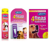 Johnson's 4Fleas Large Dog (15 - 30kg) Flea Treatment Bundle
