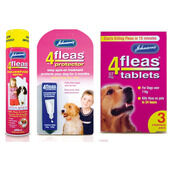 Johnson's 4Fleas Medium Dog (6 - 15kg) Flea Treatment Bundle