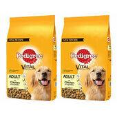 2 x 12kg Pedigree Vital Protection Adult Chicken & Veg Dog Food Multibuy