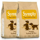 2 x 12kg Symply Puppy Turkey & Rice Junior Dog Food Multibuy