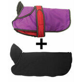 Danish Design 2-In-1 Purple Waterproof Four Seasons Performance Dog Coat