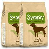2 x 12kg Symply Adult Lamb & Rice Dry Dog Food Multibuy