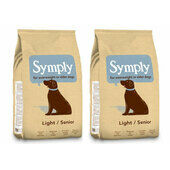 2 x 12kg Symply Light/Senior Lamb & Rice Dry Dog Food Multibuy