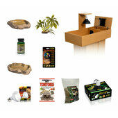 The Pet Express Monkfield Tortoise Table Oak Starter Kit