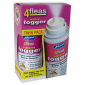 3 x Johnson's 4fleas Room Fogger With IGR - Twinpack (2 x 100ml)
