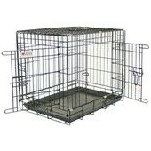 Vital Pet Products Dog Crate and tray - Powdered Black