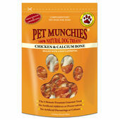 8 x Pet Munchies Chicken & Calcium Bones Dog Treats - 100g