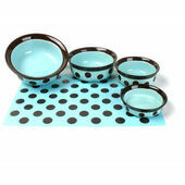 Rosewood Stoneware Placemat Teal/Brown Spot