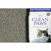 Pettex Clean Paws Clumping Cat Litter - 15kg