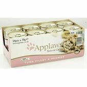 24 x Applaws Tuna Fillet And Prawn Cat Food 70g