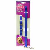Ancol Small Bite Puppy Collar & Lead Set Nylon Assorted 20 - 30cm Sz 0-1