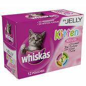 4 x Whiskas Pouch Kitten Jelly 12x100g