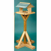 The Hutch Company Flat Pack Bird Table - Green Roof