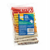 "Good Boy Assorted Hide Rolls Dog Chew 12.5cm (5"") 100Pack"