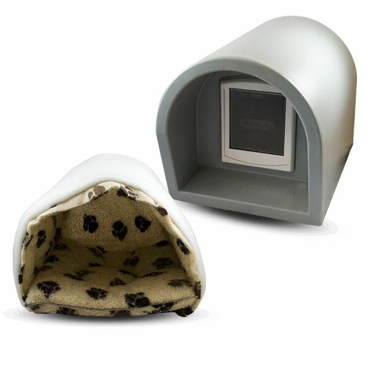 Katden Outdoor Cat Kennel Shelter Light Grey Fast Uk
