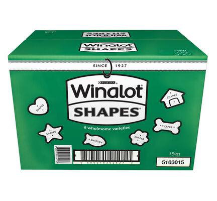 Winalot Shapes Crunchy Dog Biscuits 6 Varieties 15kg