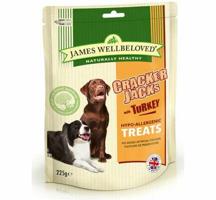 James Wellbeloved Crackerjacks Lamb, Rice & Tomato Dog Treats - 225g