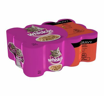 Whiskas 1+ Years Cat Can Meat Selection in Gravy