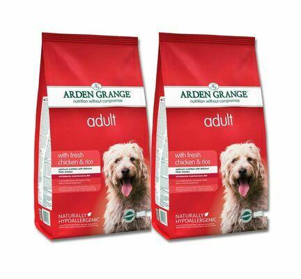 2 x 12kg Arden Grange Chicken & Rice Adult Dry Dog Food Multibuy
