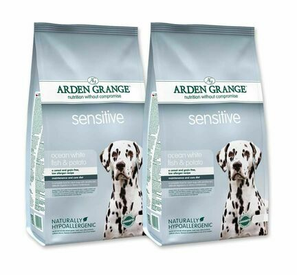 2 x 12kg Arden Grange Sensitive Fish & Potato Adult Dry Dog Food