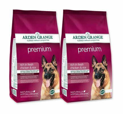 2 x 12kg Arden Grange Premium Chicken & Rice Adult Dry Dog Food