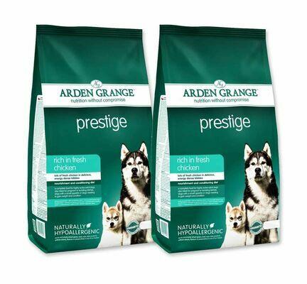 2 x 12kg Arden Grange Prestige Chicken & Rice Adult Dry Dog Food